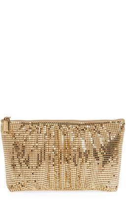 Whiting & Davis Shirred Mesh Pouch Clutch