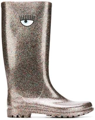 Chiara Ferragni Logomania wellington boots