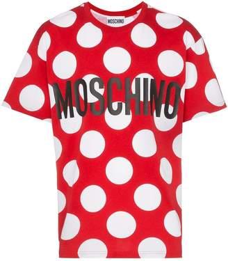 Moschino dot logo cotton T-shirt