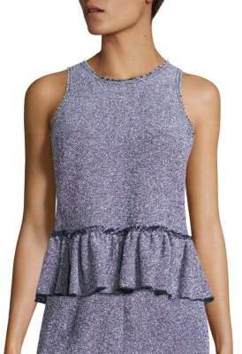 Rebecca Taylor Stretch Tweed Peplum Top