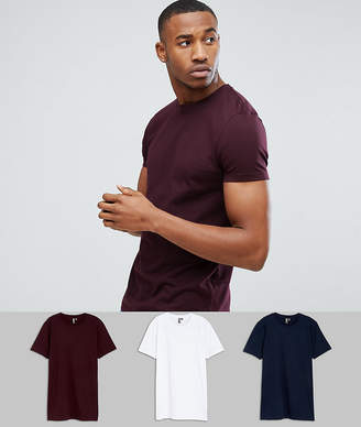 Asos DESIGN crew neck t-shirt 3 pack save