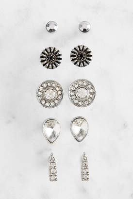 Revello Set of Sliver Stud Earrings