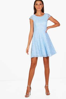 boohoo Tall Holly Lace Skater Dress