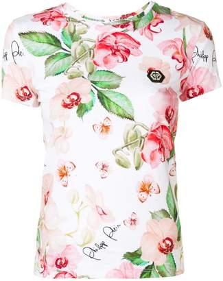 Philipp Plein floral print T-shirt