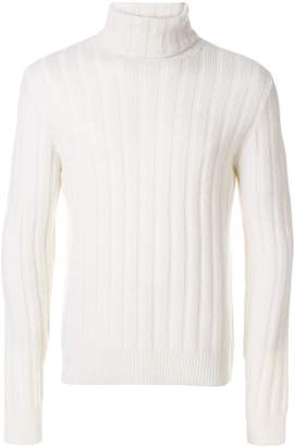 Ami Alexandre Mattiussi Turtleneck Flat Ribbed Sweater