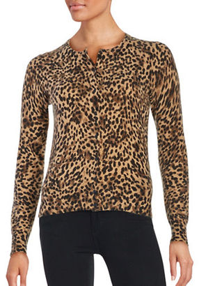 Lord & Taylor Printed Cashmere Cardigan $228 thestylecure.com