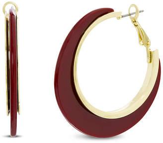Catherine Malandrino Resin Post Clip Hoop Earring in Yellow Gold-Tone Alloy