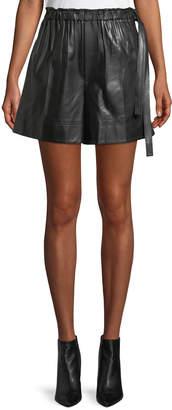 Helmut Lang Leather Paper Bag Shorts