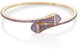 Marli Cleo x Marli 18K Rose Gold& Sapphire Bangle Bracelet