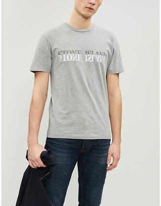 Stone Island Reflective logo-print cotton-jersey T-shirt