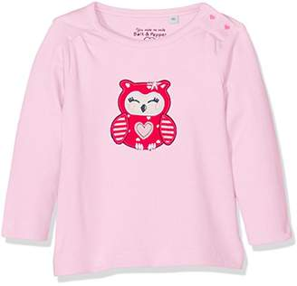Salt&Pepper Salt and Pepper Baby Girls' NB Happy Uni Eule Longsleeve T-Shirt
