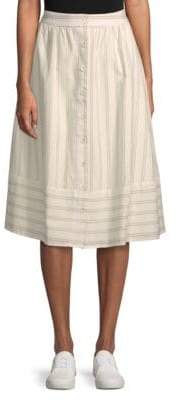 J.o.a. Stripe A-Line Skirt