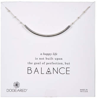 Dogeared Sterling Silver Balance Tube Necklace
