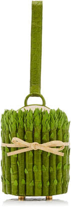 Nancy Gonzalez Asparagus Crocodile Novelty Clutch