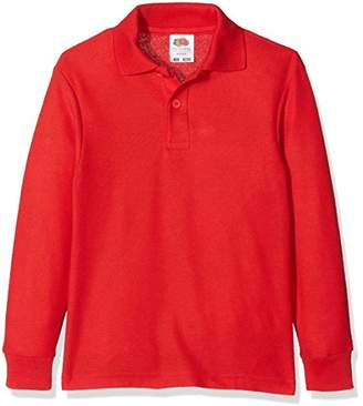 Fruit of the Loom Boy's 65/35 Long Sleeve Kids Polo Shirt