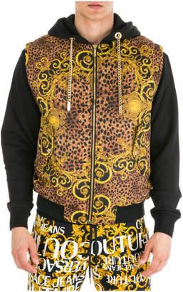 Versace Nylon Waistcoat Body Warmer Jacket Padded Leo Baroque