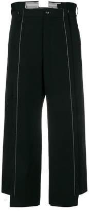 Yohji Yamamoto contrast stitch cropped trousers