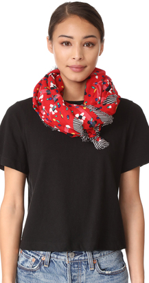Marc Jacobs Painted Flowers & Hearts Large Scarf $225 thestylecure.com