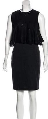 Brunello Cucinelli Knit Overlay Dress