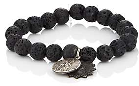 Miracle Icons Men's Vintage-Icon Beaded Bracelet-Black
