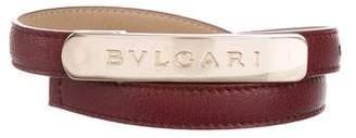 Bvlgari Embellished Leather belt
