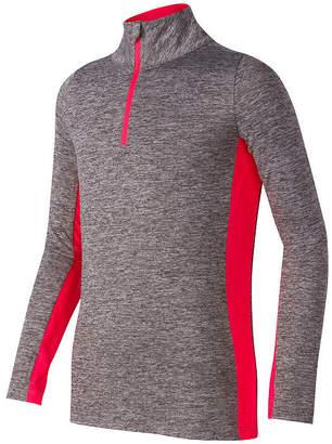 New Balance Long Sleeve Collar Neck Pullover Preschool Girls