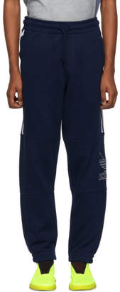 adidas Navy Outline Logo Sweatpants
