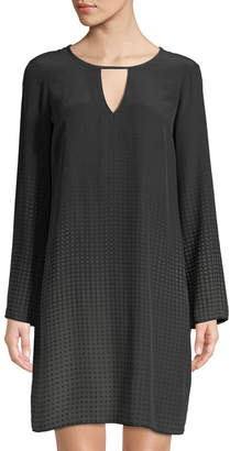 Go Silk Go Window Dressing Bell-Sleeve Dress