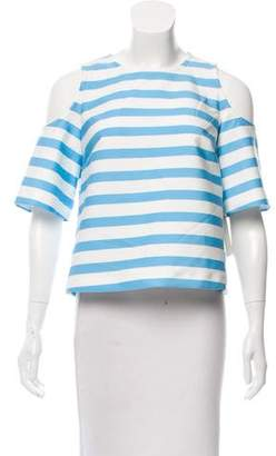 Tanya Taylor Striped Short Sleeve Top w/ Tags