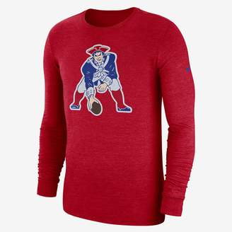 Nike NFL Patriots) Men's Tri-Blend Long Sleeve T-Shirt