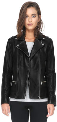 Soia & Kyo BYRONY moto leather jacket with asymmetrical zipper