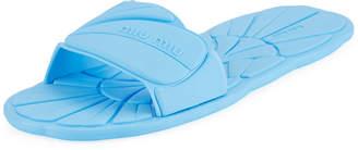 Miu Miu Flat Rubber Pool Slide Sandal