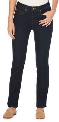 Rafaella Petite Straight-Leg Stretch Jeans