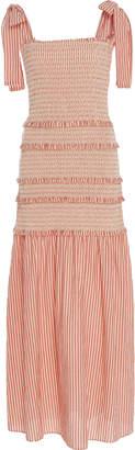 LoveShackFancy Robyn Shirred Cotton Maxi Dress