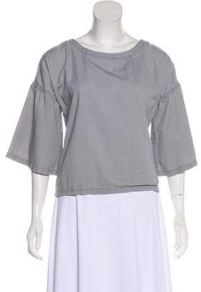J Brand Chambray Bell Sleeve Top