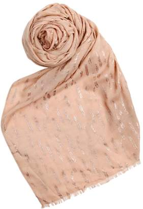 Printed Village Metallic Leaf Scarf $38 thestylecure.com