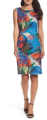Women's Ellen Tracy Shadow Knit Sheath Dress $108 thestylecure.com