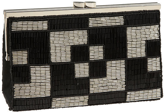 Jessica McClintock Geometric Beaded Clutch