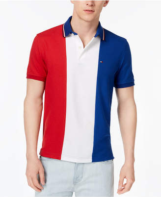 Tommy Hilfiger Men's Logo Colorblocked Slim Fit Polo