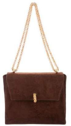Paloma Picasso Suede Flap Bag