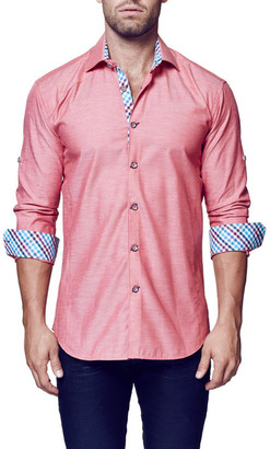 Maceoo Flavour Long Sleeve Trim Fit Shirt (Big & Tall Available) $169 thestylecure.com