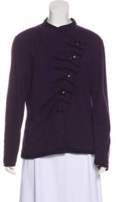 Lafayette 148 Asymmetrical Button-Up Cardigan