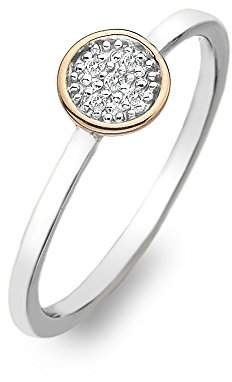 Hot Diamonds Stargazer Circle Ring - Rose Gold Plated Accents - Size P