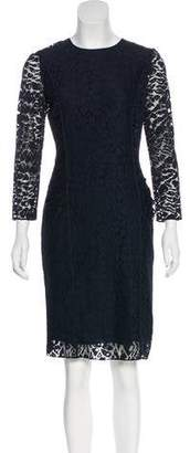 Nina Ricci Long Sleeve Lace Dress