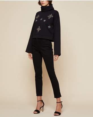 Juicy Couture Jewel Embellished Fleece Pullover