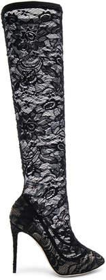 Dolce & Gabbana Stretch Lace Boots