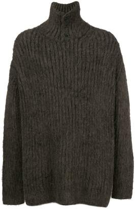 Yohji Yamamoto ribbed knit sweater