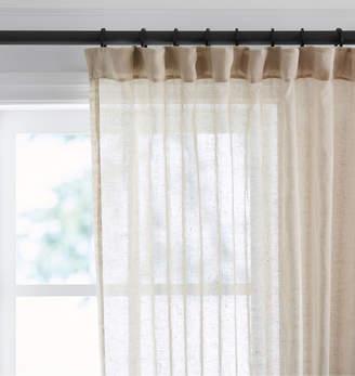 Rejuvenation Natural Sheer Linen Curtain Panel