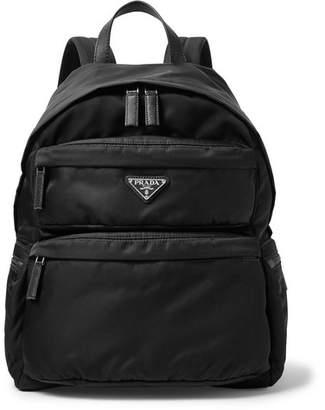 Prada Saffiano Leather-Trimmed Nylon Backpack