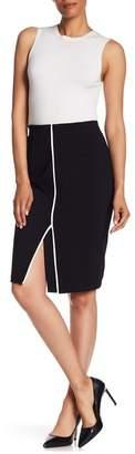 Amanda & Chelsea Ponte Front Split Skirt